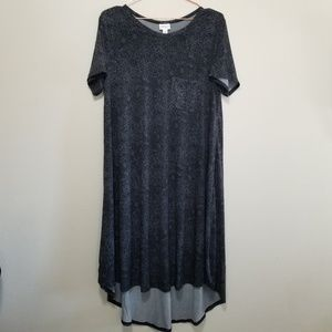 Lularoe Carly, hi-lo t shirt dress with 1 pocket